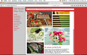 Partyservice Henseler, Bonn; Homepage, Geschäftsdrucksachen, Fahrzeugbeschriftung