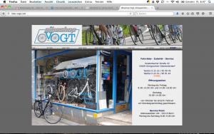 Bike-Shop Vogt, Königswinter; Logoentwicklung, Homepage, Schaufensterbeschriftung, Geschäftsdrucksachen